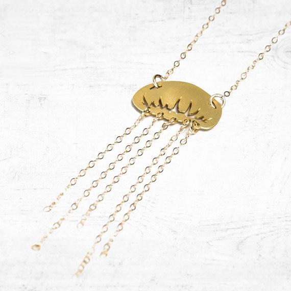 NianDi ожерелье с Медузой Золотая подвеска Медуза океан Шарм пляж ювелирные изделия Mujer ожерелье и Кулоны Аксессуары для вечеринок YLQ0547
