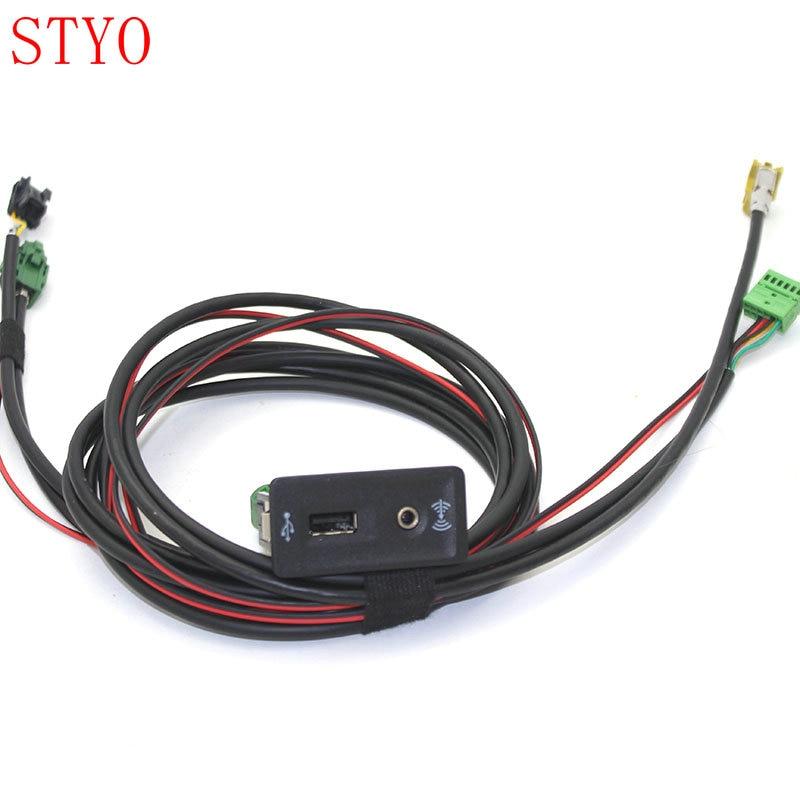 STYO coche CarPlay MDI USB AMI instalar enchufe Harnes para Golf 7 MK7 5G0 035 222 E