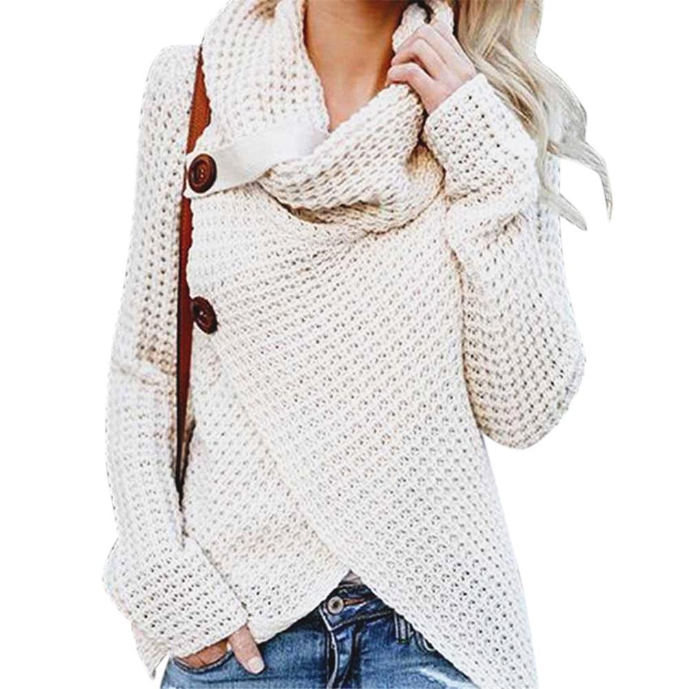 MISSKY 2018 женский свитер сплошной цвет Повседневный с длинным рукавом и крестиком