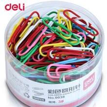 Deli MIX couleur trombones étudiant papeterie grand métal 160 pièces un ensemble métal Clips bureau apprendre étudiant Clips