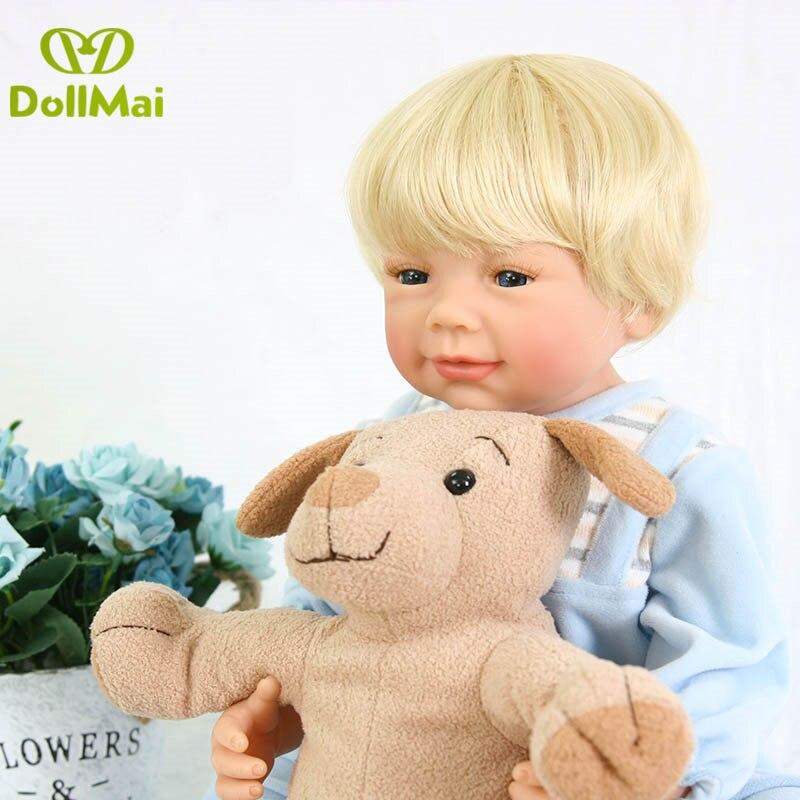 Muñecas de vinilo completo de silicona para bebés recién nacidos de 56 cm, muñecas para niña reborn com corpo de silicona para niña