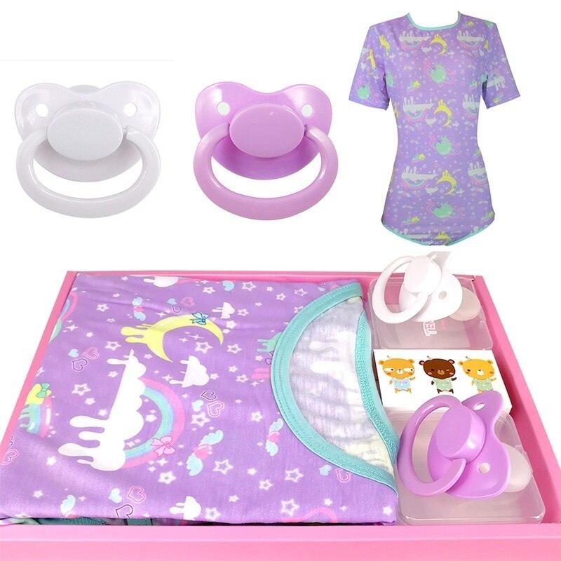 ABDL Onesie пеленки Lover с застежкой в промежности Комбинезоны для детей и взрослых пижамы для взрослых Размер соски папа девочка одежда