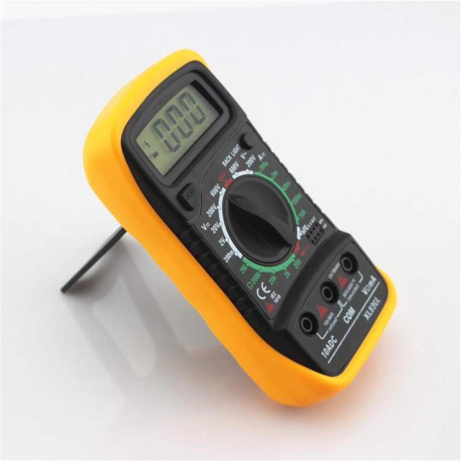 Multímetro Digital portátil retroiluminación AC/DC amperímetro voltímetro ohmios probador medidor XL830L multímetro LCD portátil