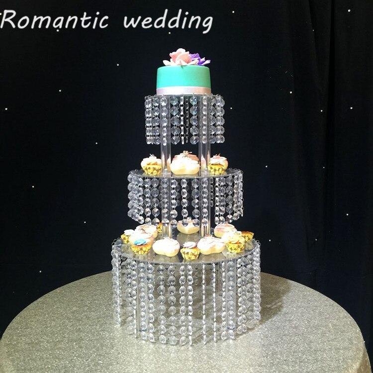 Soporte de pastel acrílico de boda para decoración de bodas