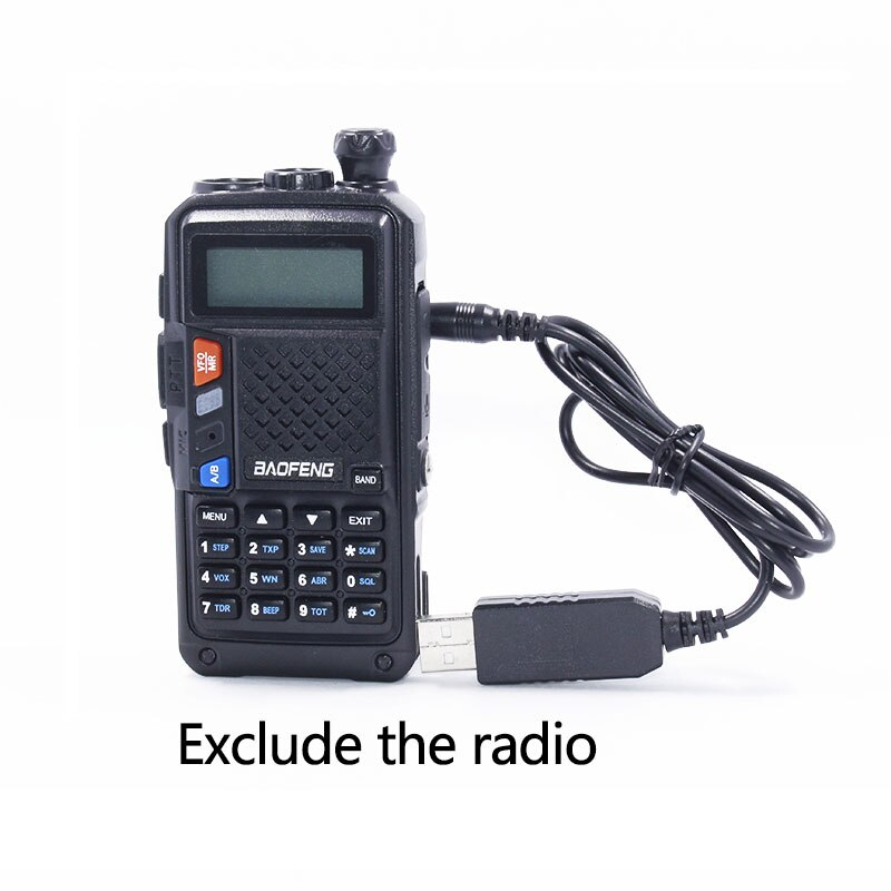 Usb-кабель для зарядного устройства Baofeng с индикатором для BaoFeng BF-UVB3Plus baatetery Ham Radio BF-UVB3 Plus Walkie Talkie