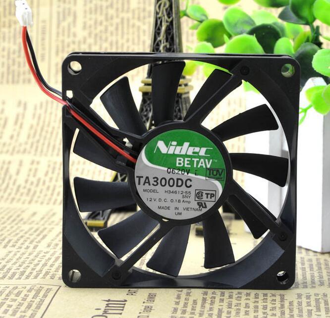 Original para Nidec TA300DC H34612-55 8015 0.18A DC 12V 80*80 * Linhas de 15mm 8CM 2 ventilador de refrigeração
