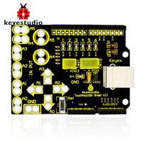 Free shipping !New Keyestudio Touch Key USB Shield V3.1 Analog Touch Keypad for Arduino UNOR3