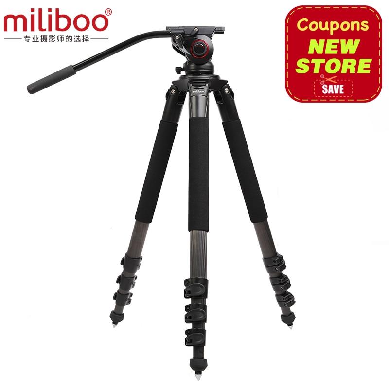 Trípode De Fibra De Carbono portátil miliboo MTT702B para videocámara profesional/cámara de vídeo/soporte de trípode DSLR, con cabeza de bola hidráulica