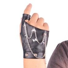 Personnalité hommes et femmes/rivet universel demi mode tendance punk danse hip-hop mitaines en cuir gants G215