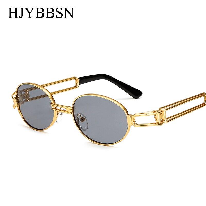 2017 Hip Hop Retro pequeño redondo gafas de sol mujeres Vintage Steampunk gafas de sol hombres oro lentes de sol para dama marco ocular