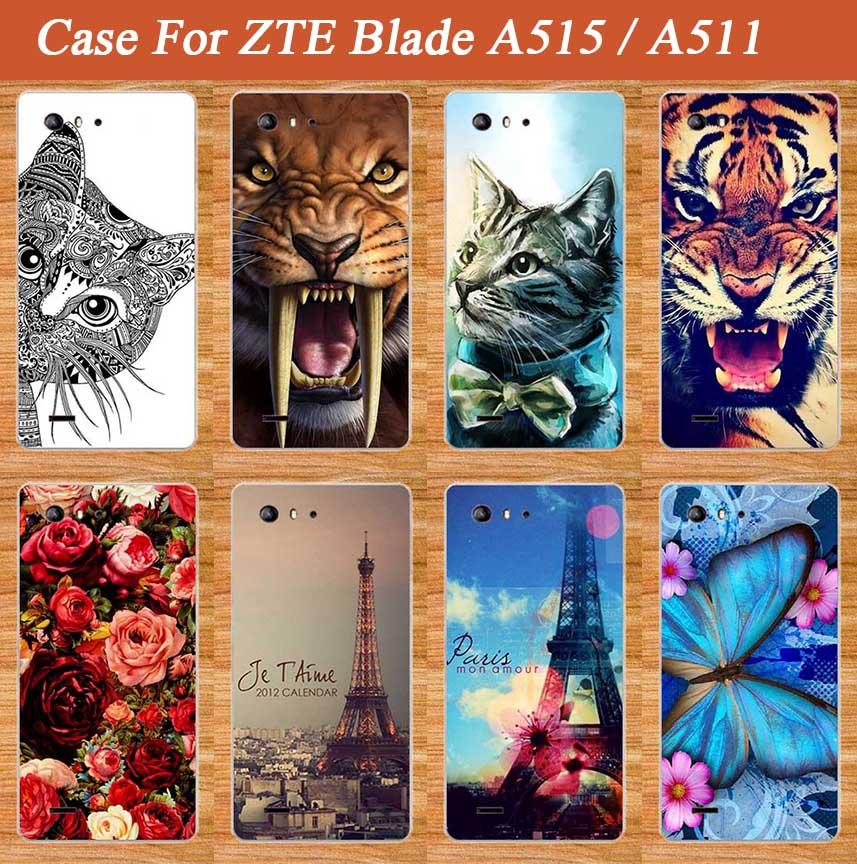 Para Zte Blade A515 A511 funda de lujo Diy UV pintura de colores suave Tpu funda para ZTE Blade A 515 bolsas para teléfono de silicona A 511