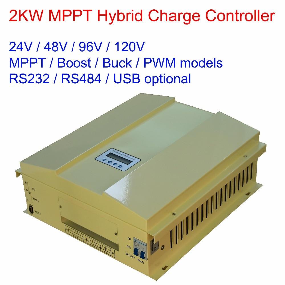 2000 واط/2KW 24 فولت/48 فولت/96 فولت/120 فولت MPPT/باك/دفعة/شاشة عرض ال سي دي الرياح الشمسية (600 واط) الهجين تهمة منظم تحكم ، RS485 ، RS232