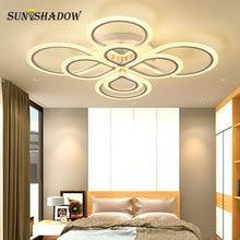Ringen Moderne Led Plafondlamp Voor Woonkamer Slaapkamer Armaturen Black & White Acryl Opbouw Kroonluchter Plafond Lampen