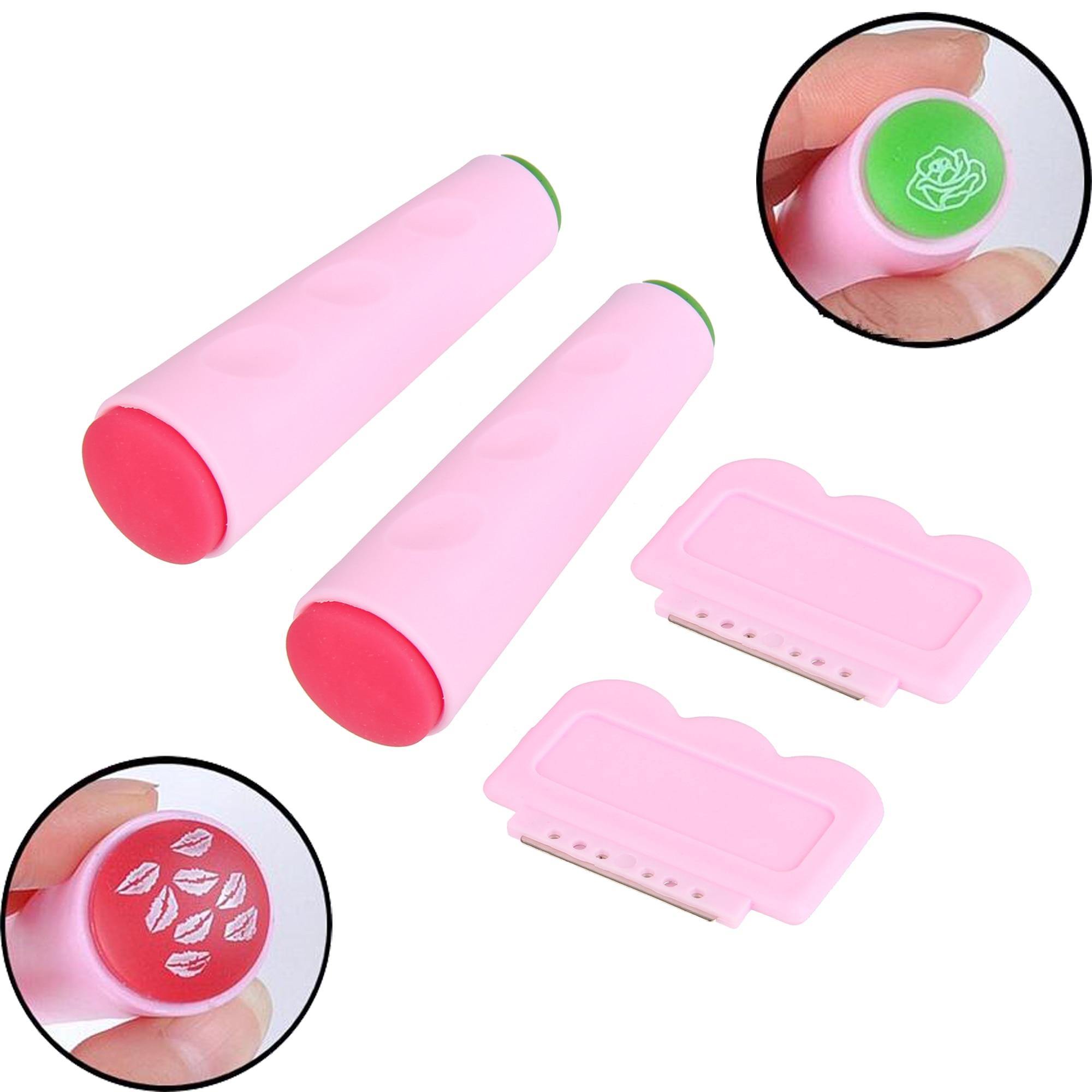 BEAUTY7 1 Set de manicura DIY plantillas de uñas sello raspador de transferencia de sello de plancha para arte de uñas decoración Placa de sellado