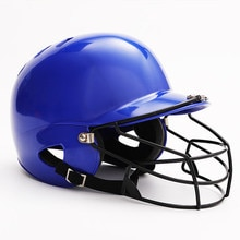 Professional Sport match headgear Adult baseball helmet strike Combat helmet two-ear Softball helmet with Steel wire Face saver