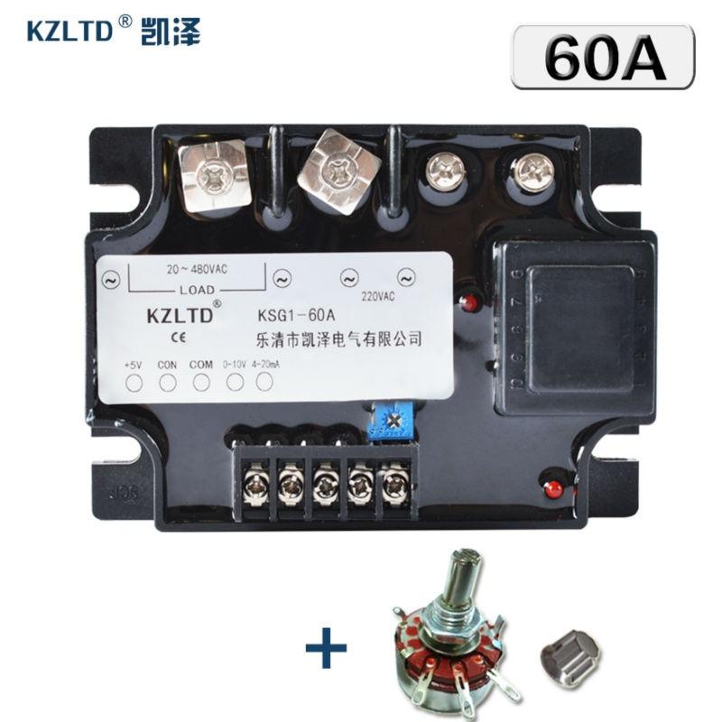 KZLTD твердотельные реле 60A KS1-60VA 0-5VDC 0-10VDC 4-20MA мульти-вход 20-480V AC твердотельные реле 60A SSR твердотельные реле