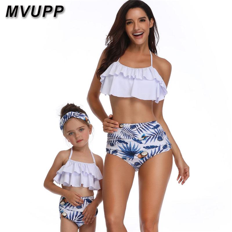 Traje de baño de playa para madre e hija, ropa para mamá y yo, trajes de baño a juego para Familia, traje de baño para mamá, traje de baño con aspecto de gran litera para Hermanas