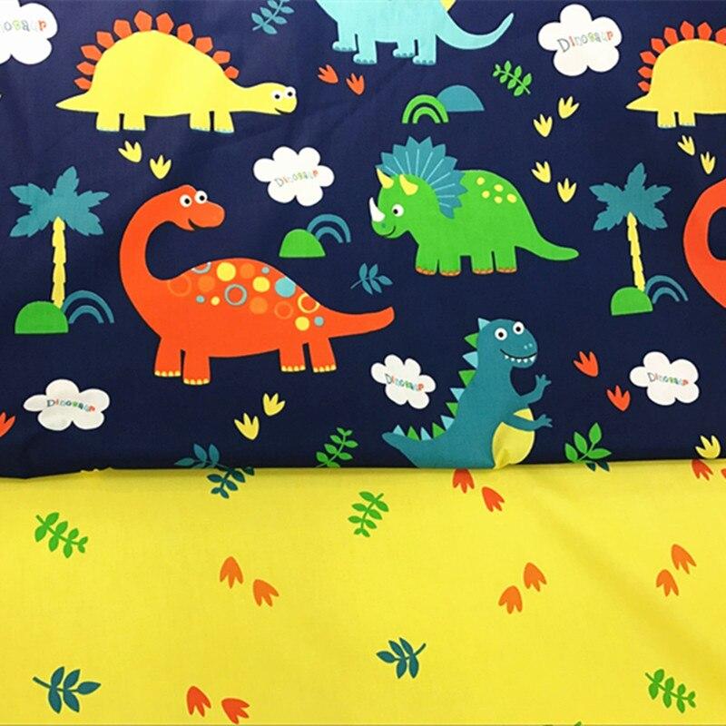 Tela de tapicería de algodón para bebé con dibujos animados impresos por medio metro para manualidades, colcha de costura, material de costura