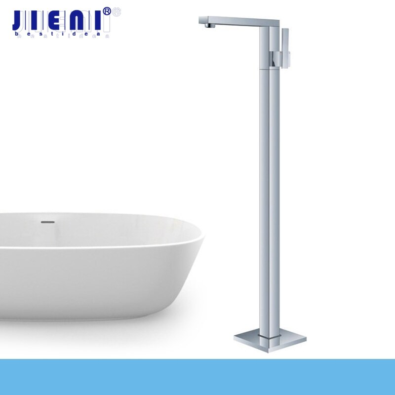 JIENI Bathroom tub shower set products bath mixer banheira floor bathtub shower faucet Floor Stand Faucets