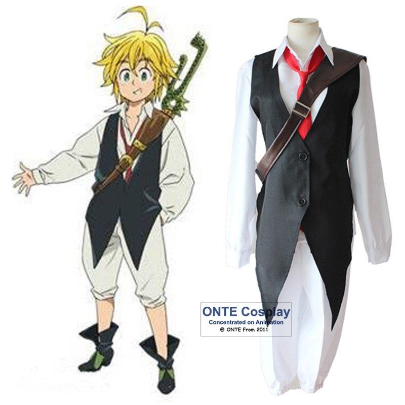 De los siete pecados mortales Cosplay disfraces de Nanatsu No Taizai Dragón es pecado de ira Meliodas ropa traje completo