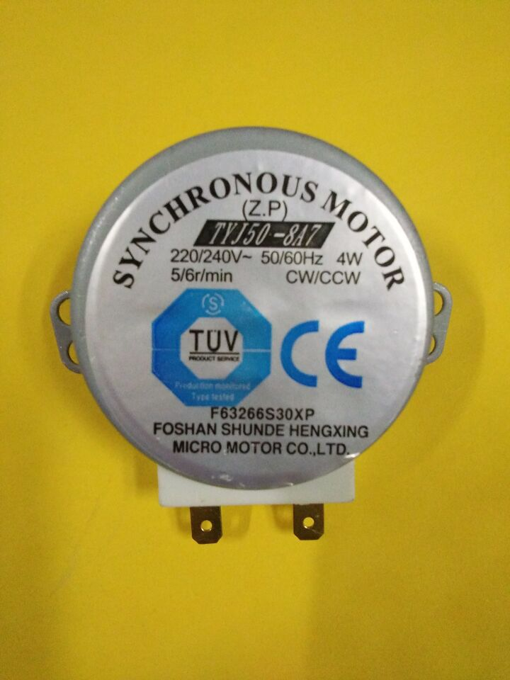 Frete grátis/2 Pcs/Forno Turntable Synchronous Motor 4 W AC 220-240 V 5/6 RPM CW/CCW