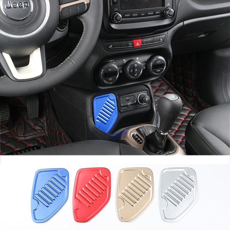 SHINEKA Interior conector de adaptador USB Jack lado izquierdo decoración cubierta plana para Jeep Renegade 1,4 T 2016-2019 estilo de coche