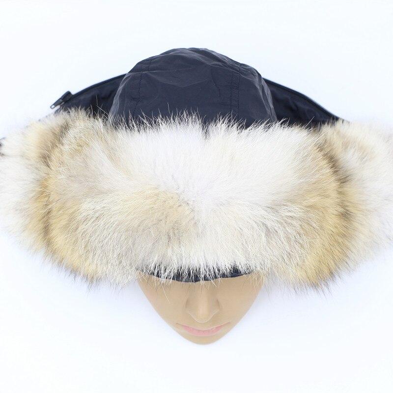 Custom 45-80cm  genuine fur coyotes collar men Down coat thick fur trim hood hat collar women real fur collar ring scarf