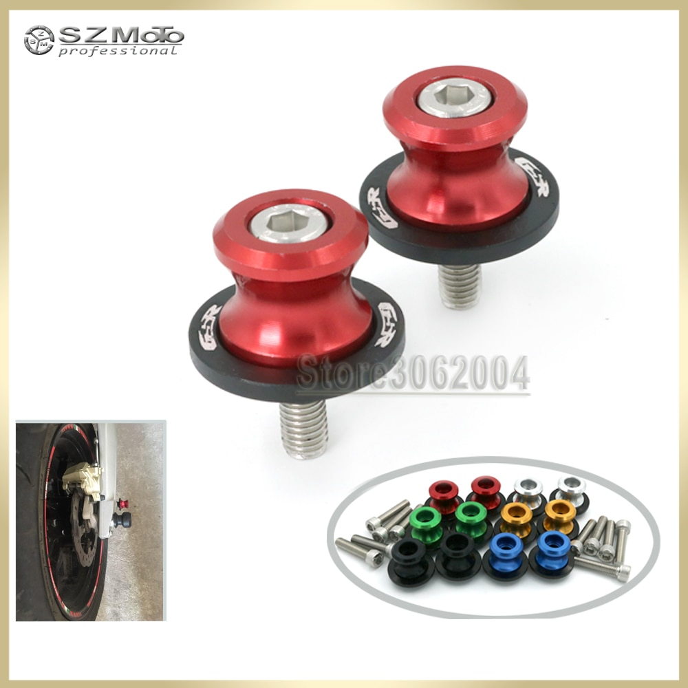Para SUZUKI GSX 650F GSX650F 2008-2015 de 2014 accesorios de la motocicleta basculante carrete deslizante M8 soporte tornillos con Logo