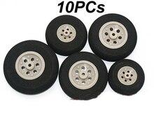 10PCs Diameter 53MM/45MM/40MM/35MM/30MM/25MM Sponge Wheel Rear/Front Landing Gear Skid EVA Wheel For RC Airplane 2.5/2.0mm Hole