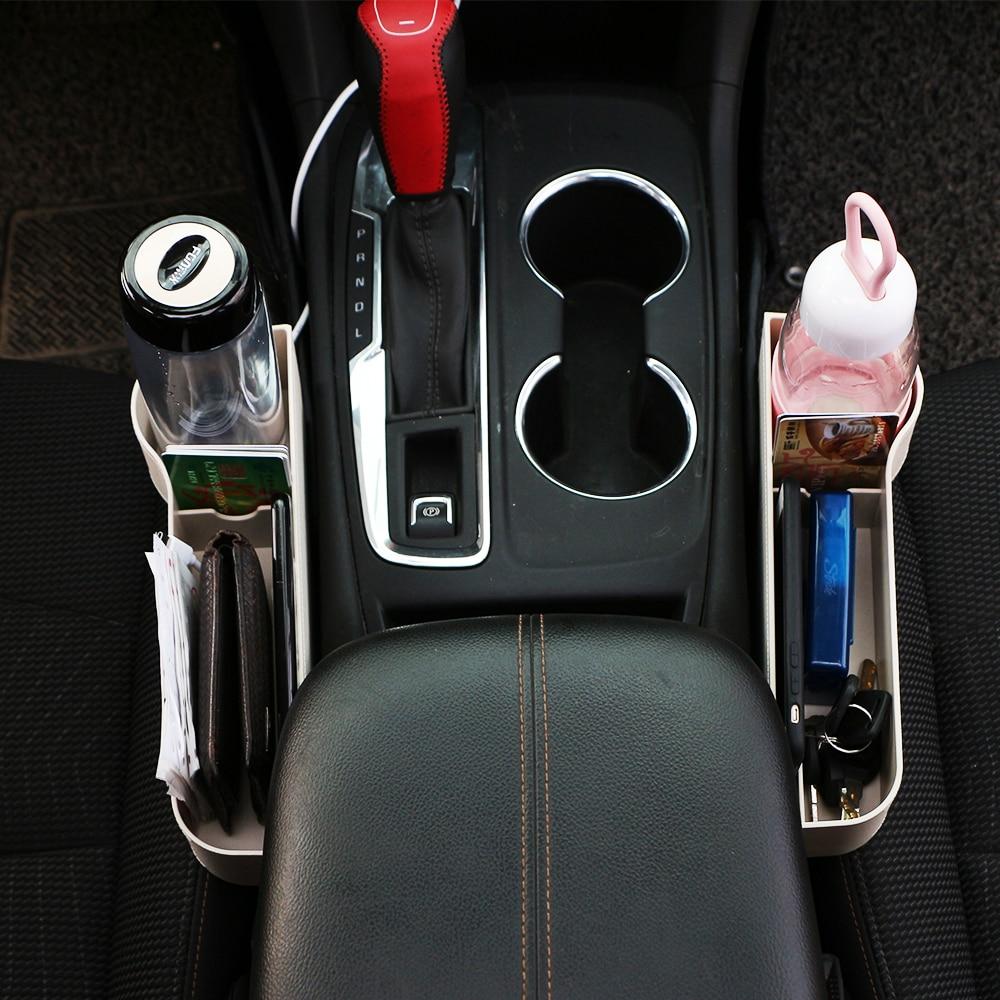 Jameo Auto cosido para asiento de coche, caja de almacenamiento de asiento de Coche de cuñas para Mitsubishi ASX Outlander Pajero Sport EVO LANCER-EX Galant Eclipse