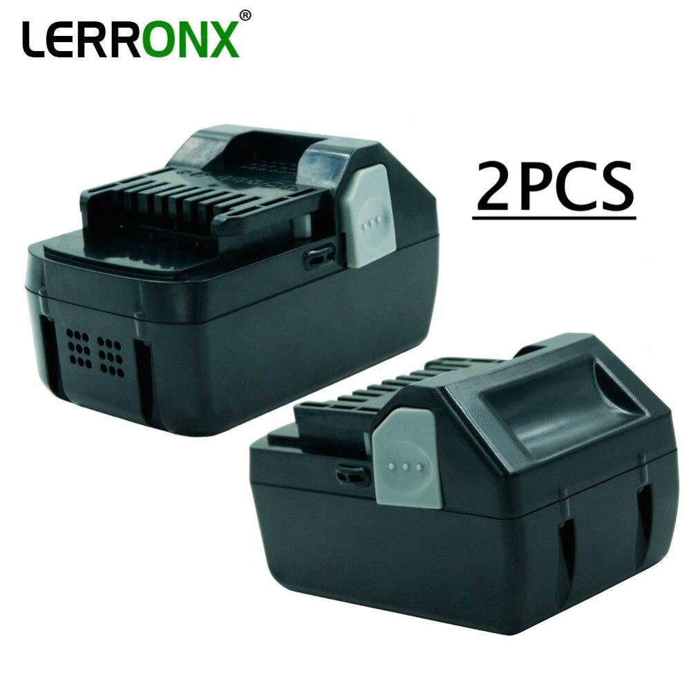2 шт. аккумуляторная батарея 4.0Ah 18В литий для Hitachi Li ion bateria BSL1830 BSL1840 BSL1815X