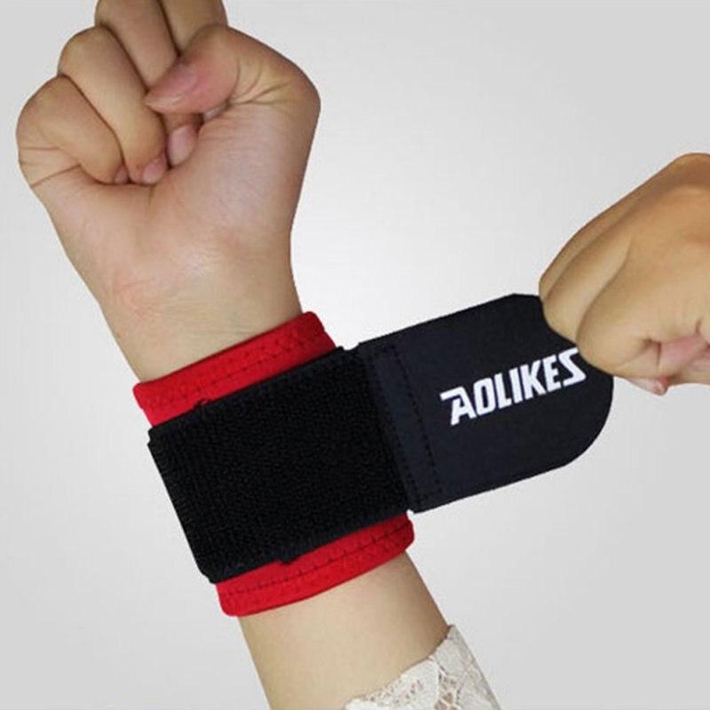 Sports Basketball Tafilete pulseira Wrist Band Andar de Ping Pong Bola Ao Ar Livre Indoor Sports segurança proteger AOLIKES New HOT
