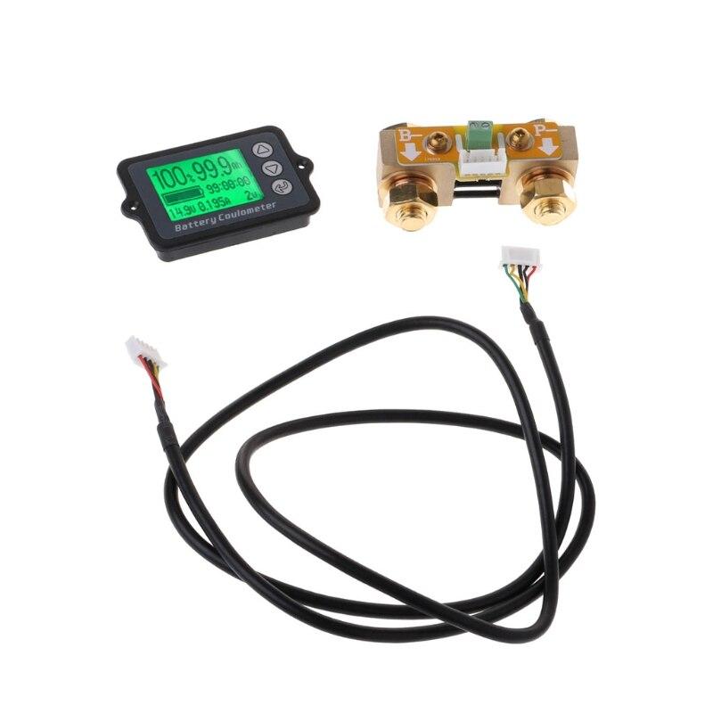 80В 350А TK15 точный тестер батареи для LiFePO куломб счетчик LCD кулометр