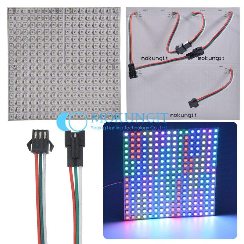 WS2812B панель 16x16 8x32 8x8 пикселей SK6812 цифровая Гибкая Светодиодная панель WS2812B, индивидуальная Адресуемая полноразмерная Dream Color DC5V