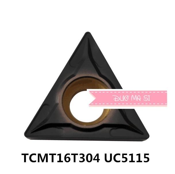TCMT16T304 UC5115/TCMT16T308 UC5115, TCMT 16T304/16T308 insertos de carburo para herramienta de torneado, barra de perforación