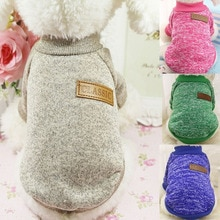 Classic Warm Dog Clothes Puppy Pet Cat Clothes Sweater Jacket Coat Winter Fashion Soft For Small Dog