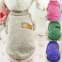Ropa de abrigo clásica para perro cachorro de gato para mascota ropa suéter chaqueta abrigo de invierno de moda suave para perros pequeños Chihuahua XS-2XL
