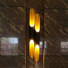 Nordic Industriële retro blaker wandlampen Aluminium Ronde Buis LED Wall Lampen woonkamer eetkamer slaapkamer Home Decoratieve Verlichting