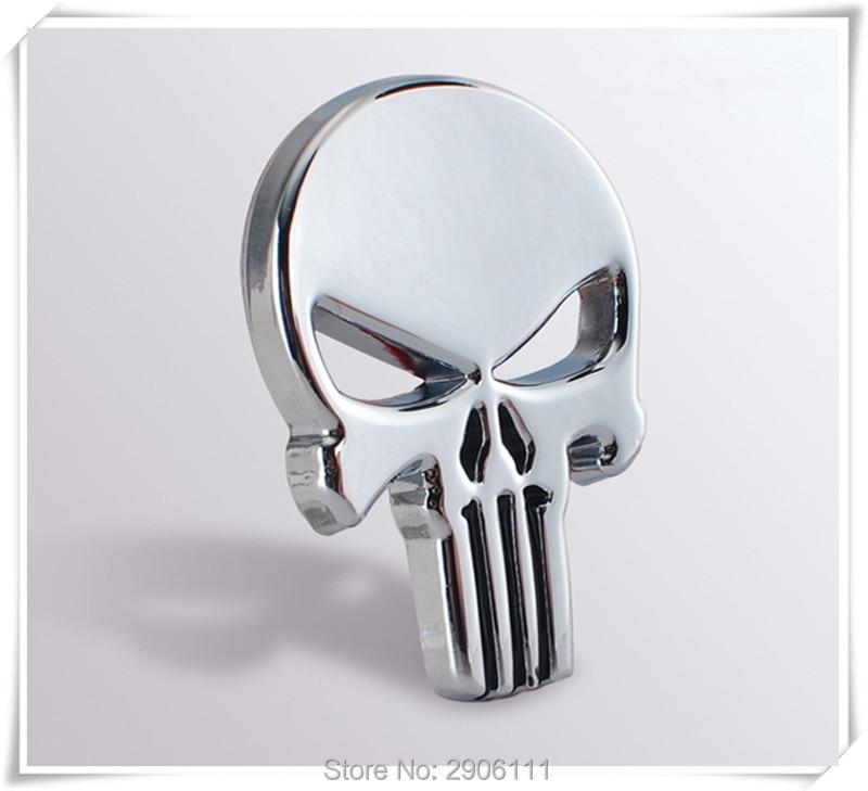 Car Styling 3D Metal The Punisher Skull Emblem Badge for SUZUKI vitara swift sx4 jimny grand vitara 2016 samurai s-cross