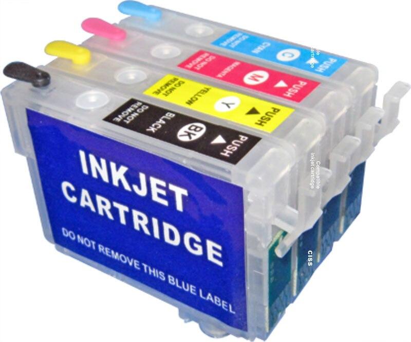 Refill inkjet cartridge 73N T0731N for epson Stylus TX210 C79 CX8300 CX5500 TX100 TX200 TX400 TX409 TX550W TX610 TX600FW printer