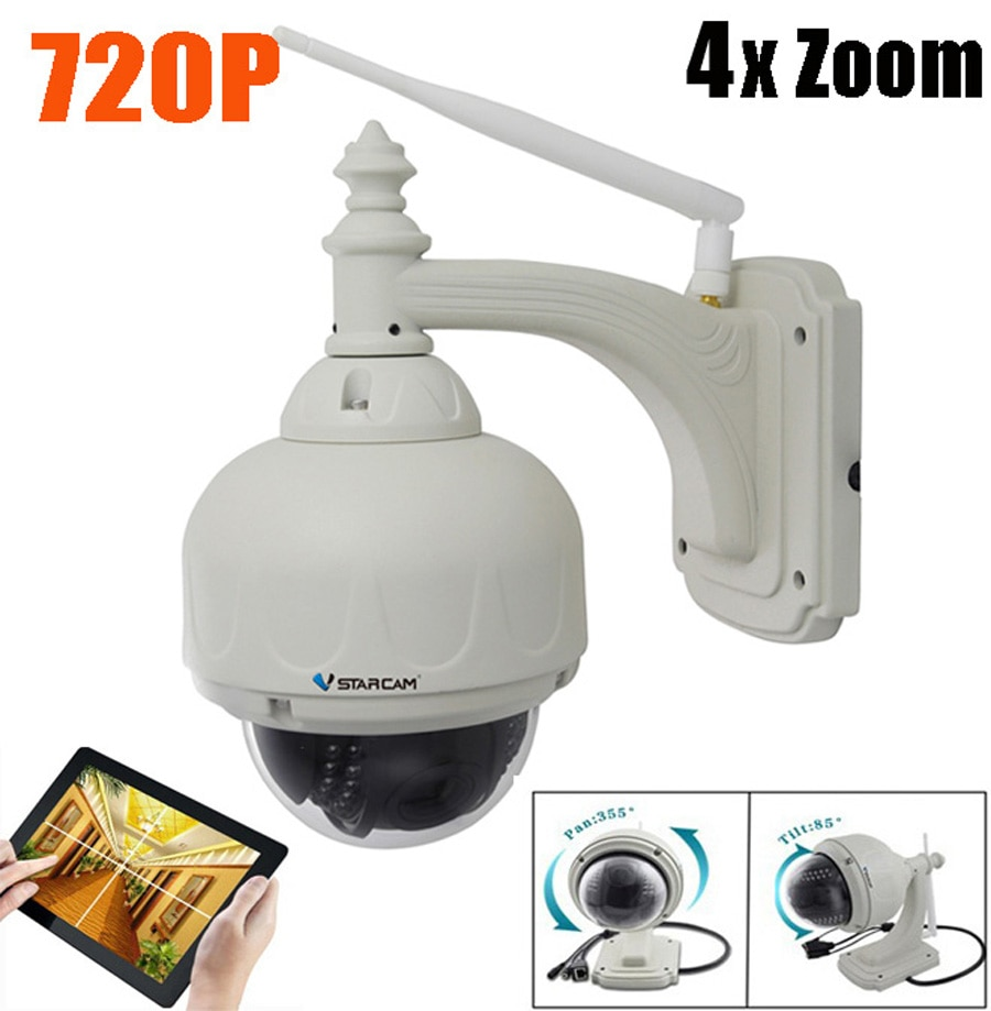 Vstarcam C33-X4 720P HD 2.8~12mm 4X Zoom Onvif Infrared Wireless WIFI Outdoor Waterproof PTZ Dome Camera C7833-X4