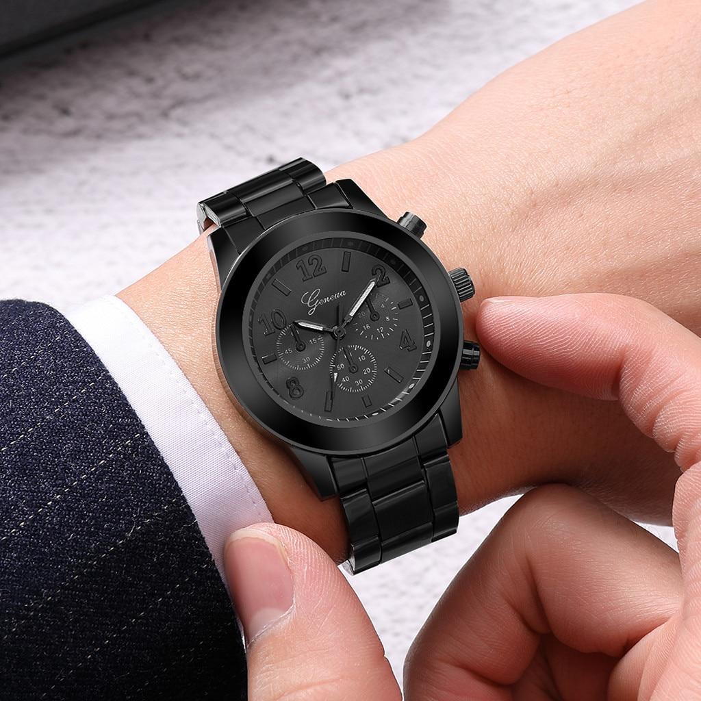 ¡Moda 2019! Reloj de pulsera Geneva de acero inoxidable para hombre, Reloj de pulsera de cuarzo para hombre, envío gratis, Mar Wd3