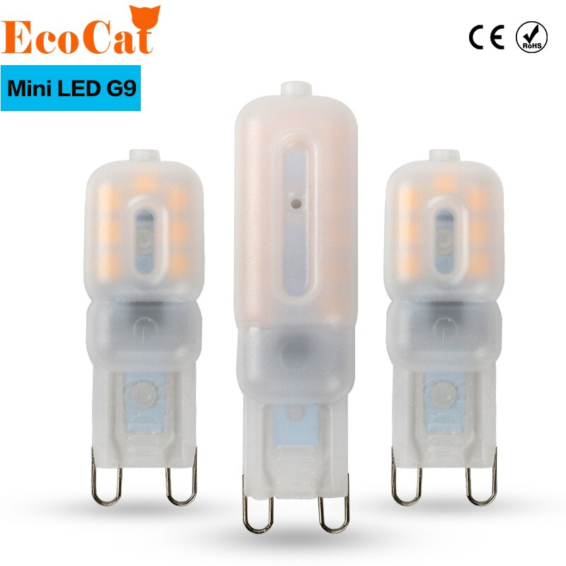 G9 led 220 v 14 leds 22 leds 30 leds led g9 lâmpada led smd 2835 led g9 luz substituir 20 w/40 w/60 w halogênio lâmpada luz
