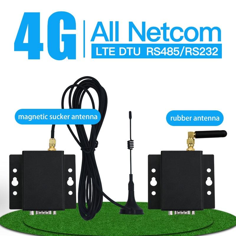 Industrial 2g 3g 4g dtu módem puerto de serie GSM Gprs transmisor rs485 rs232 uart 4G transceptor inalámbrico de XZ-DG4M