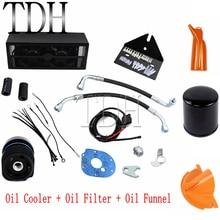 Moto noire + filtre à huile + radiateur entonnoir   Pour Harley Dyna Road King Electra Glide FLHT FLHR FLTR, 1993-2017
