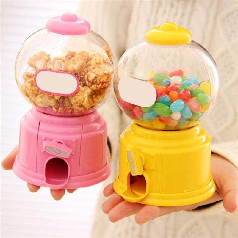Cute Sweets Mini Candy Machine Creative Bubble Gumball Machine Dispenser Coin Bank Kids Toy Children Gift Candy Dispenser