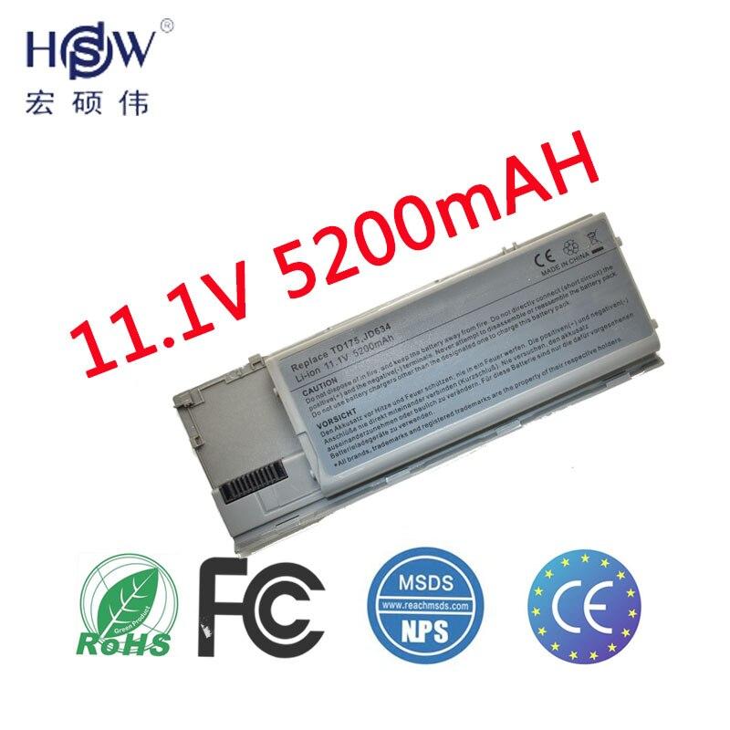Bateria do portátil de hsw para dell d620 d630 d631 m2300 kd491 kd492 kd494 bateria para o portátil kd495 nt379 pc764 pc765 pd685 rd300battery