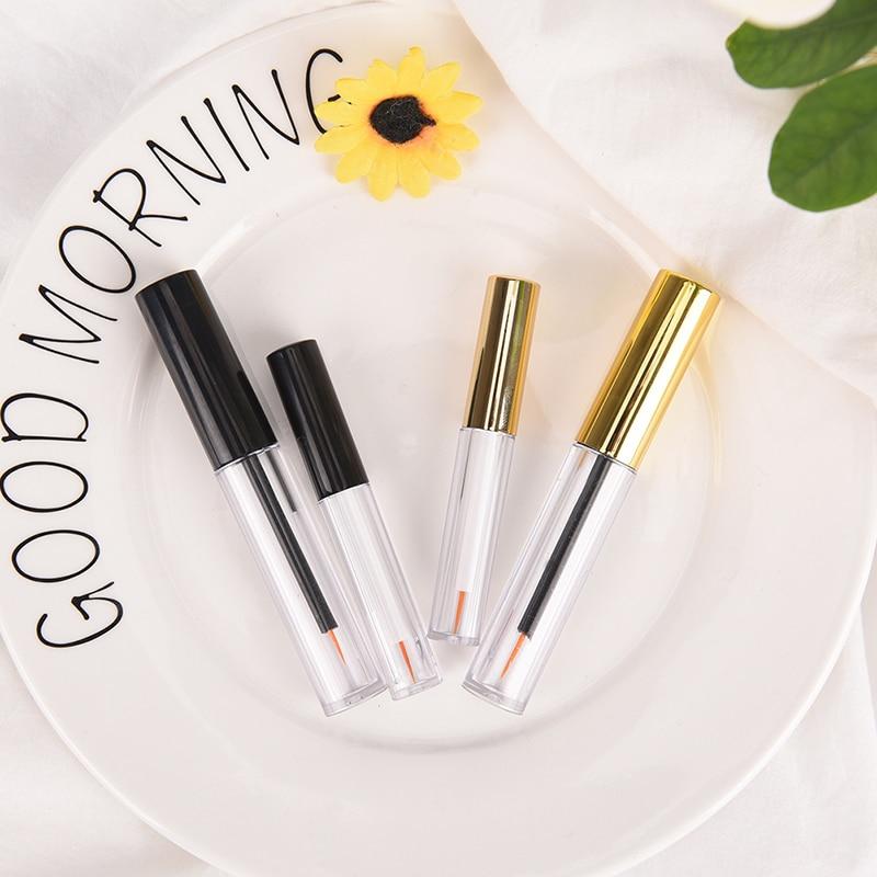 2 tamanhos vazio líquido olho forro tubo olho lash frasco cílios garrafa delineador recipiente compõem tubo 2 cores ouro preto