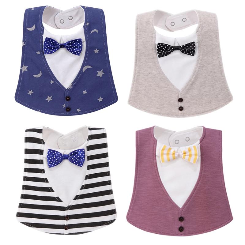 New Baby Girl Boy Waterproof baby Bibs gentleman Princess style Kids Toddler Dinner Feeding Bib baberos bebe Baby Clothes