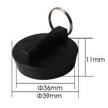 Talea Black Rubber Sink drain Strainer lid Sink water seal lid Tap Hole Stopper Hand Sink Plug Plastic Sink Cover Tool QS401C001